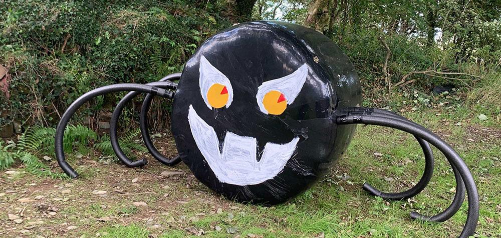 Spider decoration on the pumpkin trail
